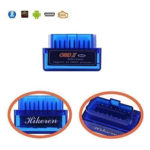 Mini Bluetooth Adapter OBD2 OBDII Car Diagnostic Scanner Check Engine Light for Android Windows Compatible with Torque Pro