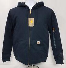 Carhartt Rain Defender Rutland Thermal Lined Zip Sweatshirt Navy 100632 472 $70