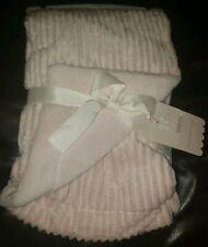 Mon Lapin Pink Panda Bear Face Soft Baby Blanket Luxury Plush Minky New