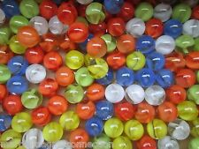 """SET OF 60 /""""MARBLE KING/"""" CATS EYE CHINESE CHECKERS 5//8 GAME MARBLES NM-M $11.99"""