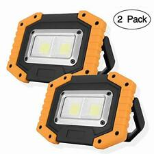 OTYTY COB Rechargeable Portable LED Work Light with Stand W804 24LEDs,30W Waterproof LED Flood Lights for Outdoor Camping Hiking Emergency Car Repairing Job Site Lighting