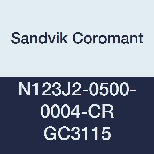 Pack of 10 Multi-Layer Coating 5E Chipbreaker GC235 Grade N151.2-500-5E 1 Cutting Edge 0.0079 Corner Radius 50 Insert Seat Size Sandvik Coromant Q-Cut 151.2 Carbide Parting Insert