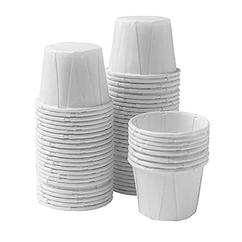 250 Ct Box 1 Ounce Disposable Paper Portion Sample Souffle Cups