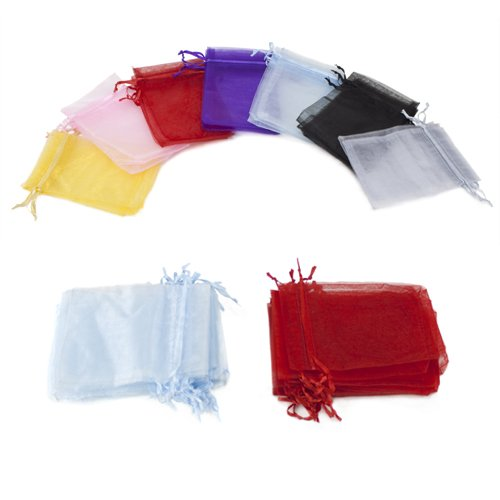 Organza Wedding Party Favor Bags JaneOft Drawstring Gift Bags 10PCS