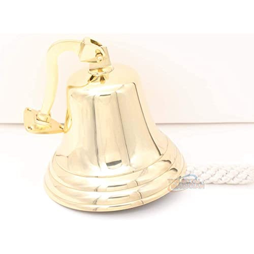 Buy The Metal Magician 6 Solid Brass Shiplast Orderspubdoorschooldinnerreception Wall Mountable Bell Online In Qatar B07d216yc3