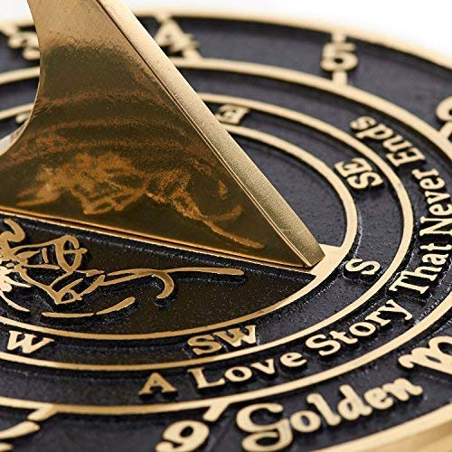 The Metal Foundry 50th Golden Wedding Anniversary 2019 Sundial Gift Idea .. New