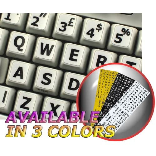 Korean Japanese Hiragana Keyboard Labels ON Transparent Background with RED /& Blue Lettering 14X14