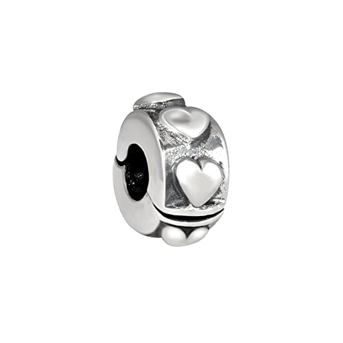 Quiges 925 Sterling Silver 3D Flower Bead Charm