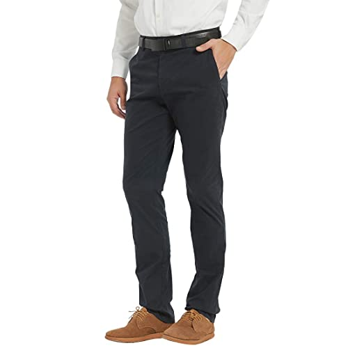 THE AWOKEN Mens Chino Casual Flat Front Pant Business Wear