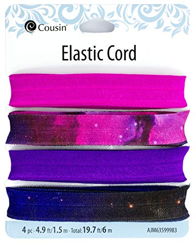 Cousin DIY 34780375 Leopard Print Elastic Ribbon Multi