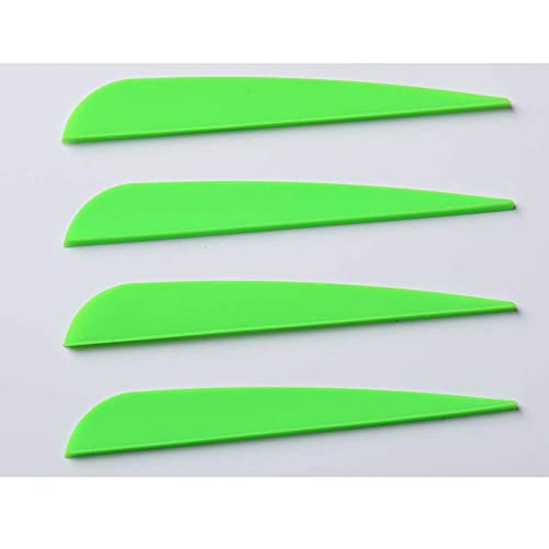 Pack of 105 Archery Arrow Vanes 3 Inch// 4 Inch Plastic TPU Fletchings for DIY Arrow