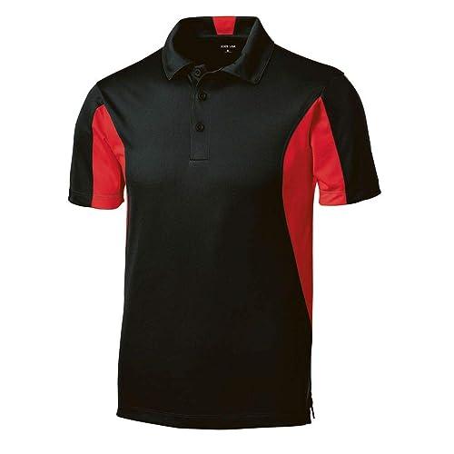XX-Large Purple//White Sport-Tek Side Blocked Micropique Sport-Wick Sport Shirt
