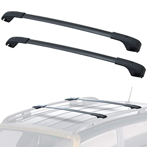 HIGH Flying Car Accessories Black Roof Rack Rails End Cap Protection Cover Shell for Toyota RAV4 2006-2012