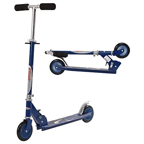 Best Gifts for Girls Boys Age 3-12 Year Old Lean to Steer LED Light Up Wheels ChromeWheels Scooters for Kids Deluxe Kick Scooter Foldable 4 Adjustable Height 150lb Weight Limit 3 Wheel