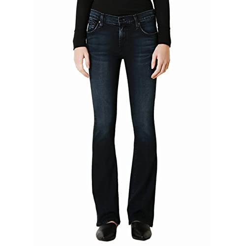 James Jeans Womens Chica Re-Constructed Hi-lo Waist Slim Leg Jean in Americana
