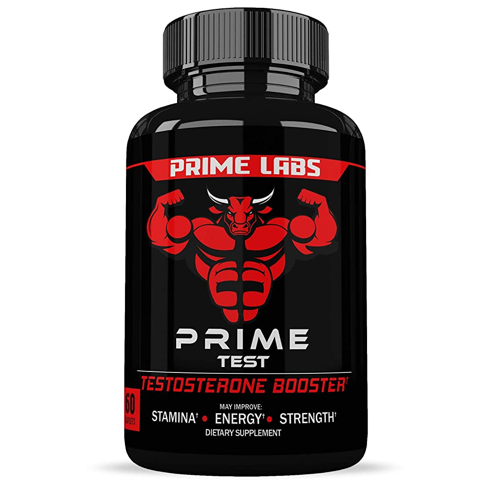 Prime Labs Men's Testosterone Supplement (60 Caplets) - Natural Stamina Endurance and Strength