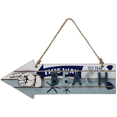 Buy Lilys Home Vintage Beach Decor Arrow Sign Lsquo This Way To The Beach House Decoration Online In Qatar B07rdy7f8c