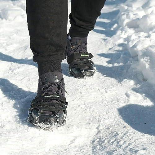 EnergeticSky Strap Type Crampons Multi-function Anti-Slip Ice Cleat Spike Hiking