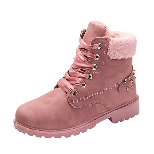 Hunzed Women Shoes Waterproof Leather Low Heel Hand-Stitched Flower Ankle Boots