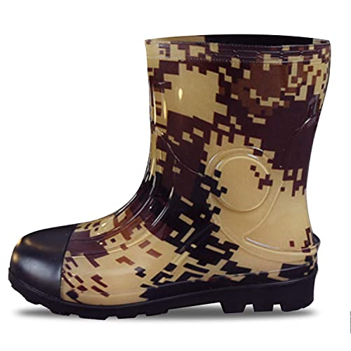 JOINFREE Mens Rain Shoes Mid High Calf Rubber Garden Shoes Outdoor Rain  Footwear Work Boots Clothing, Shoes & Jewelry Rain