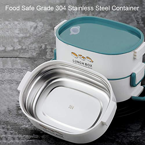 20d05e1aaa6a Buy Lille Home 48oz Stackable Stainless Steel Compartment Lunch Box ...