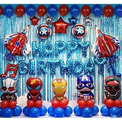 Buy Avengers حزب عيد ميلاد لوازم Superhero عيد ميلاد زينة Superhero البالونات 78pcs وشملت مضخة الهواء مجانا والشريط Online In Qatar B07qqqb6s6