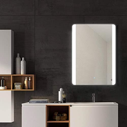 Demister/… Janboe Bathroom Mirror Wall Mounted Illuminated 500x700mm Bathroom Mirror with Touch Switch