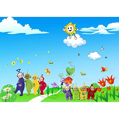 Teletubbies Baby Shower Backdrop