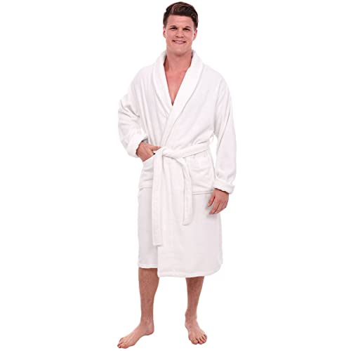 Alexander Del Rossa Mens Turkish Terry Cloth Robe Thick Bathrobe A0106MEN-terry-bath-robe