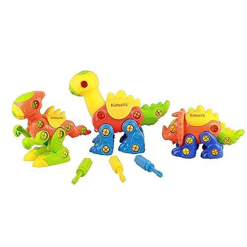 Dinosaur Toys STEM Learning Construction Engineering Building Play Set For Boys