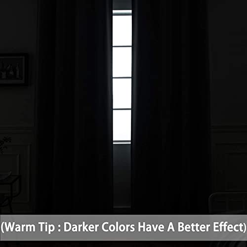 Yakamok Room Darkening Gray Blackout Curtains Thermal Insulated Grommet Curtain Panels For Bedroom 52w X 84l Grey 2 Panels 2 Tie Backs Included Buy Products Online With Ubuy Qatar In Affordable Prices B072hwc79l