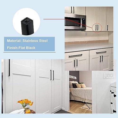 Wardrobe goldenwarm 3in Cabinet Handles Black Cabinet Pulls 15 Pack Bedroom Closet HDJ12BK Kitchen Cabinet Hardware Black Pulls for Dresser Drawers Metal Drawer Pulls and Knobs for Bathroom