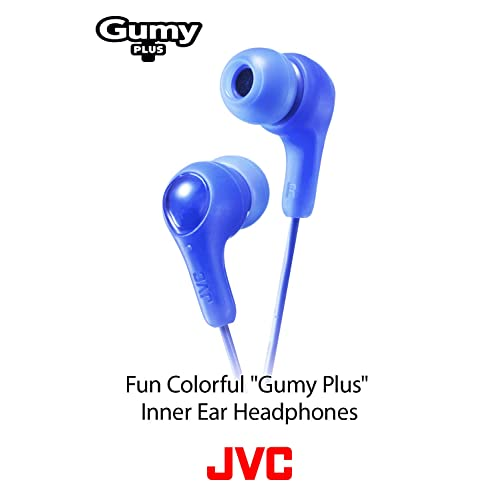 JVC Gumy in Ear Earbud Headphones White Powerful Sound Silicone Ear Pieces S//M//L HAFX7W Comfortable and Secure Fit