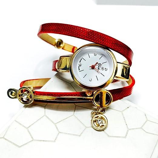 54bda0206799 BROJET Women s Fashion Watches Quartz Weave Wrap around Leather Bracelet  Wrist Watch