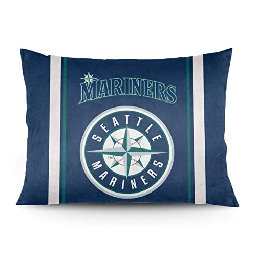 Buy Explosive Camellia Pillow Covers Seattle Baseball Pillowcase Pillow Cases For Couch And Bed Pillows 20x26 Inches Online In Qatar B082229yr4
