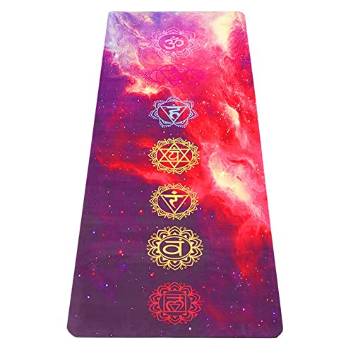 Non Slip Suede 2-in-1 Mat/&Towel Umineux Yoga Mat Premium Print Exercise Fitness Mat with Carrying Strap/&Bag for All Types of Yoga Natural Rubber Eco Friendly 5mm Extra Thick Yoga Mat