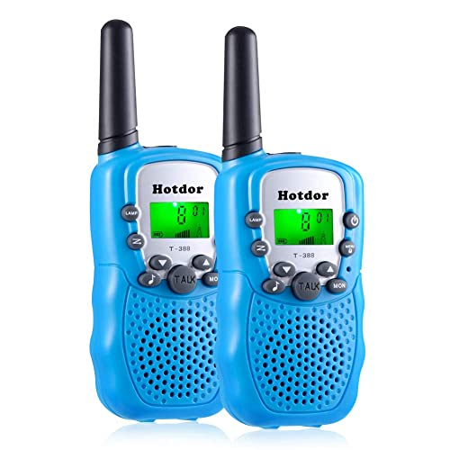 Pink, 2 Pack Kids Walkie Talkies 22 Channels 2 Way Radio 3 Miles Range Toys for 4-9 Year Old Girls Boys Outdoor Adventures Hiking Camping Hotdor Gifts for 3-12 Year Old Girls
