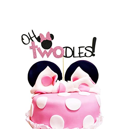 Phenomenal Oh Twodles Minnie Mouse Cake Topper Second 2Nd Birthday Party Personalised Birthday Cards Veneteletsinfo