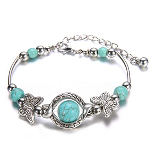 Buy YouCY Creative Ethnic Turquoise Butterfly Bracelet for