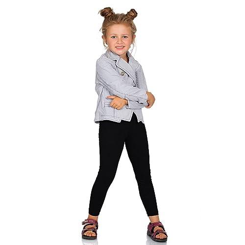 New Kids Girls Plain Leggings Kids Children Teen Basic Stretchy Full Length 5-13 Years