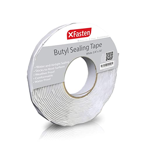 2-Inches x 50-Foot Window Vent Boat Sealing XFasten RV Roof Repair Tape White Weatherproof RV Rubber Roof Patch Tape for RV Repair and Camper Roof Leaks