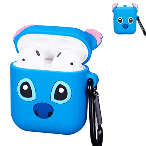 Blue Stitch Airpod Case For Apple Airpods 1 2 Cute 3d Funny