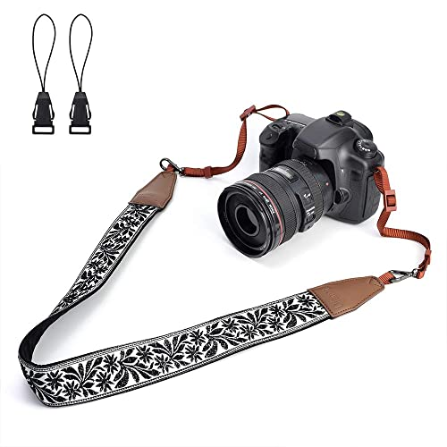 Bluelliant Camera Shoulder Neck Strap for All DSLR Camera,Digital Camera,Canon Pentax Fujifilm Nikon Camera Strap Quick Release(Brown) Sony