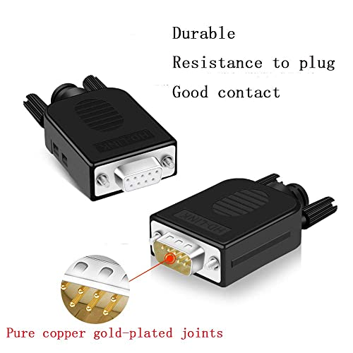 2 Pack Male DB9 Connector to Wiring Terminal RS232 Serial Port Breakout Board Solderless