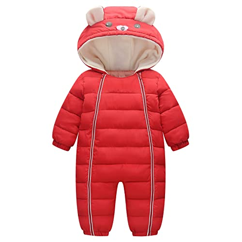 Happy Cherry Newborn Down Snowsuit Hooded Pajamas Cartoon Jumpsuit /…