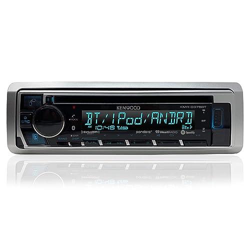 "Kenwood USB CD iPod iPhone AUX Marine Radio 4x 6.5/"" Marine Speakers"