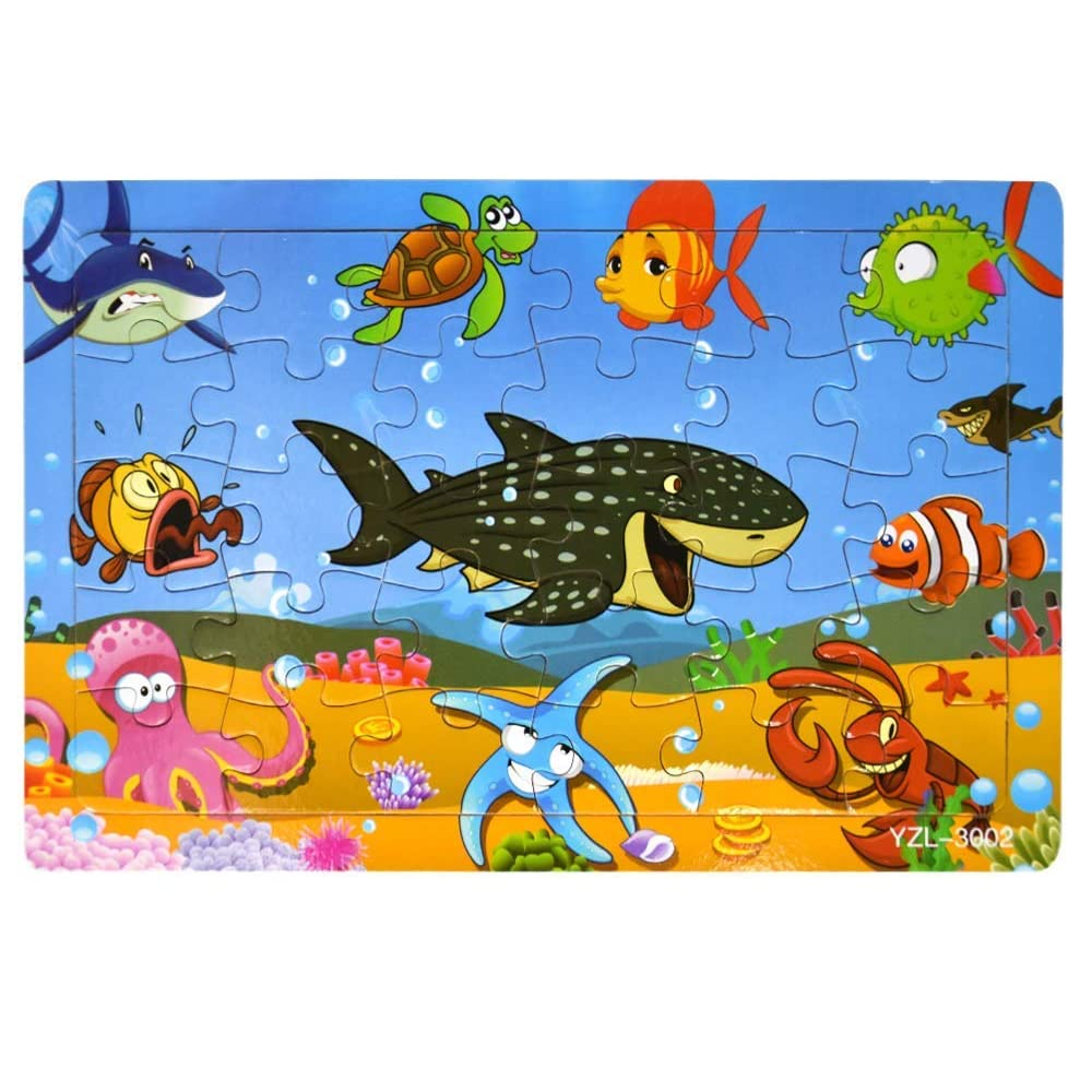 Wooden Jigsaw Puzzles Set for Kids Age 2-6 Year Old 30 ...