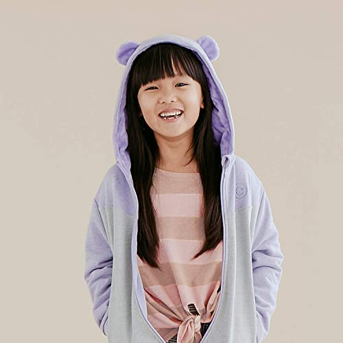 2-in-1 Transforming Hoodie and Soft Plushie Lilac Purple Cubcoats Bori The Bear
