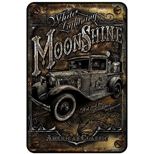 Buy Bar Wall Décor Signs Vintage Metal Sign Moon Shine Truck Liquor Signs Man Cave Décor Country Wall Art 8x12 Metal Wall Art Décor Man Gifts For Men Pioneer Woman
