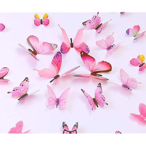 Buy Kakuu 36pcs Butterfly Wall Decals 3d Butterflies Wall Stickers Removable Mural Decor Wall Stickers Decals Wall Decor Home Decor Kids Room Bedroom Decor Living Room Decor Pink Online In Qatar